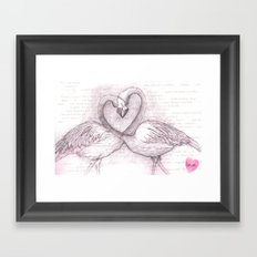 The Flamingos Framed Art Print