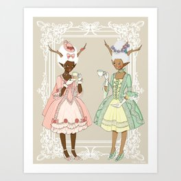 Fawns of the Royal Palace Art Print