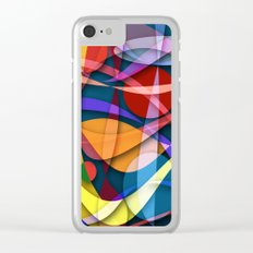 Abstract #358 Clear iPhone Case