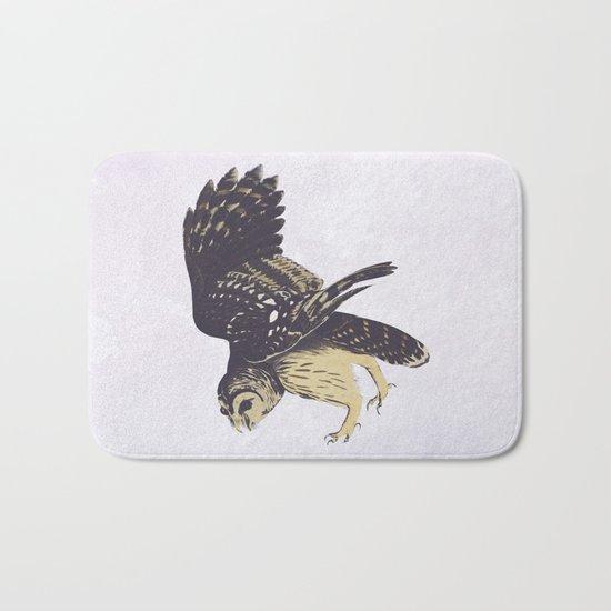 Solitary Owl Bath Mat