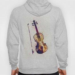 Violin Abstract Watercolor Hoody