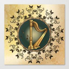 Golden harp Canvas Print