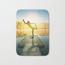 Yoga on the Lake Bath Mat
