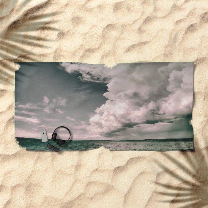 Dark clouds Beach Towel