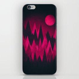 Dark Triangles (Peak Woods) Abstract Grunge Mountains Design (red/black) iPhone Skin