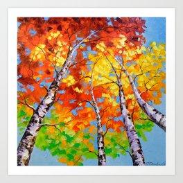 Sky birch Art Print