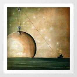 A Solar System Art Print