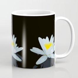 Waterlily Flowers On Black Background #decor #society6 #buyart Coffee Mug