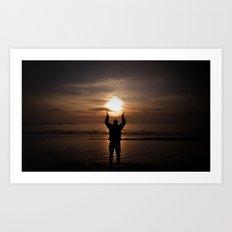 sun in my hands Art Print