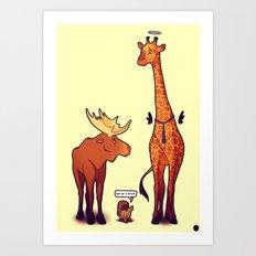Supernatural Animals Art Print