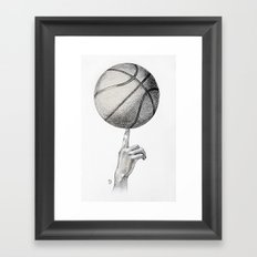 Basketball spin Framed Art Print