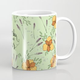 Lavender and Lilies - Tossed Flower Pattern Coffee Mug