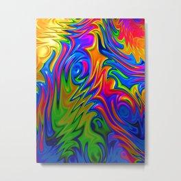 Psychedelic Rainbow Fractal Metal Print