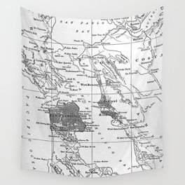Vintage Map of San Francisco California (1905) Wall Tapestry