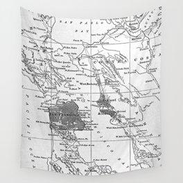 Vintage Map of San Francisco California (1905) Wall Tapestry