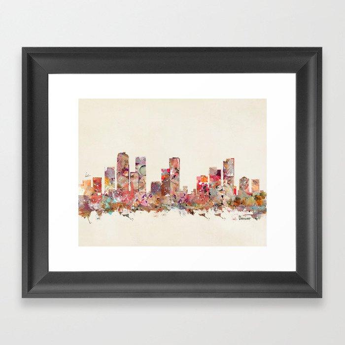 Denver Colorado Framed Art Print By Bribuckley