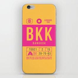 Retro Airline Luggage Tag 2.0 - BKK Bangkok Airport Thailand iPhone Skin