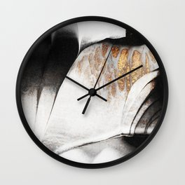 Black And Gold Veins Wall Clock