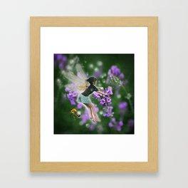 Lavender Fairy Framed Art Print