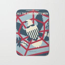 No678 My All the presidents Men minimal movie poster Bath Mat
