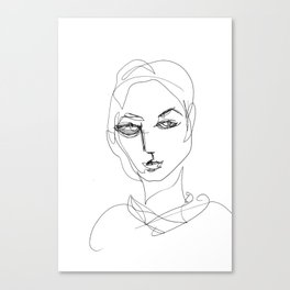 He knew he would be a beautiful woman. Canvas Print