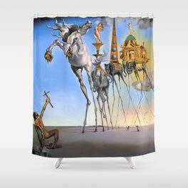 Salvador Dali The Temptation of St. Anthony 1946 Artwork for Wall Art, Prints, Posters, Tshirts, Men, Women, Kids Shower Curtain