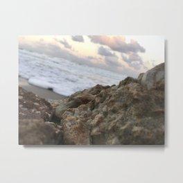 Beach Rock Metal Print