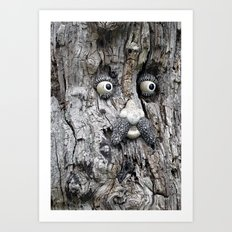 Tree Face Art Print