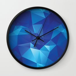 Cool ice blue triangle pattern Wall Clock