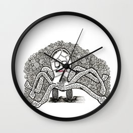 weight on my shoulders Wall Clock