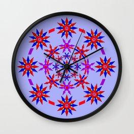 Shuriken Lotus Flower v3 Wall Clock