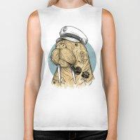 walrus Biker Tanks featuring WALRUS by Thiago Bianchini