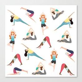 Yoga Pattern Canvas Print