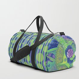 Fullmoon Dream, Mermaid Fish, Water Spirit, Surreal Fantasy Duffle Bag