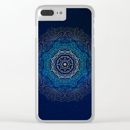 Cosmic Mandala Clear iPhone Case