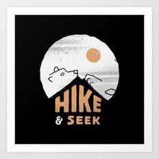 Hike And Seek Art Print