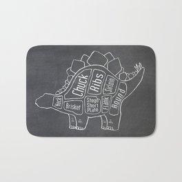 Stegosaurus Dinosaur (A.K.A Armored Lizard) Butcher Meat Diagram Bath Mat