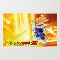 dragonball z Area & Throw Rugs featuring Vegeta Dragonball Z best idea by customgift