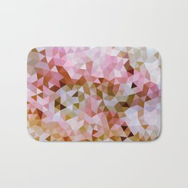 Design 108 Pink Brown Mosaic Bath Mat