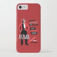 stiles stilinski iPhone & iPod Cases featuring Stiles Stilinski Quotes Teen Wolf by Alice Wieckowska