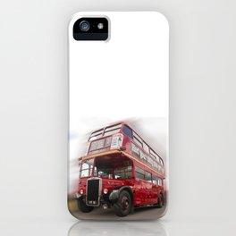 Old Red London Bus Vintage transport iPhone Case