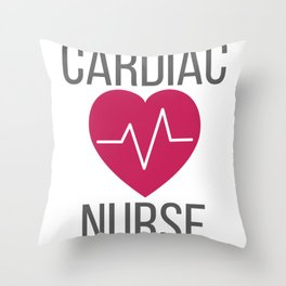 Cardiology Nurse Gift Cardiac Nurse Gift Throw Pillow