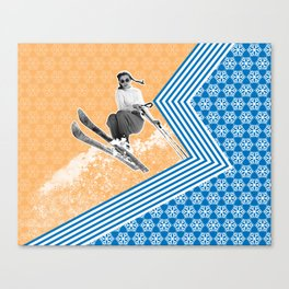 Ski Like a Girl Canvas Print