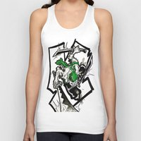 one piece Tank Tops featuring One Piece - Zoro by RISE Arts