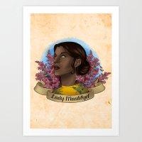Lady Snapdragon Art Print