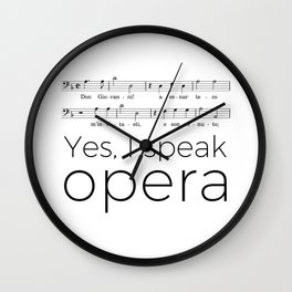 I speak opera (bass) Wall Clock