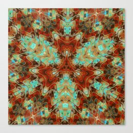 Scifi Rustic Geometric Canvas Print