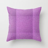 glitter Throw Pillows featuring Glitter by mailboxdisco