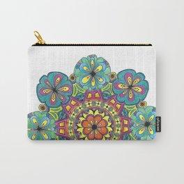 Blue Flower Mandala Carry-All Pouch