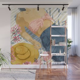Beach Vacay #society6 #travel #illustration Wall Mural